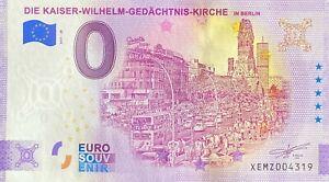 BILLET 0  EURO  DIE KAISER WHILHEM GEDACHTNIS KIRCHE  ALLEMAGNE 2021  N° DIVERS