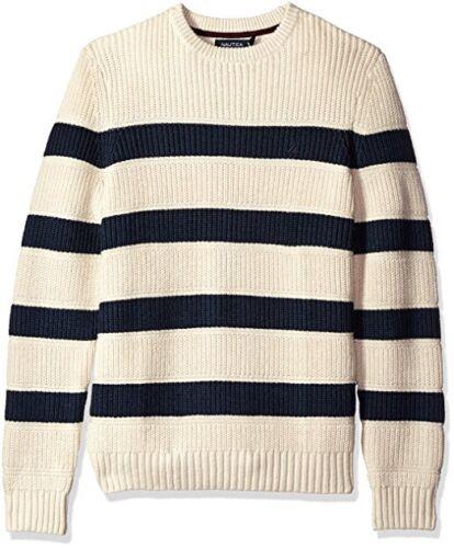 bretonas New cuello de con para redondo jersey tipo de rayas Suéter Nautica hombre vEwxXqn0tW