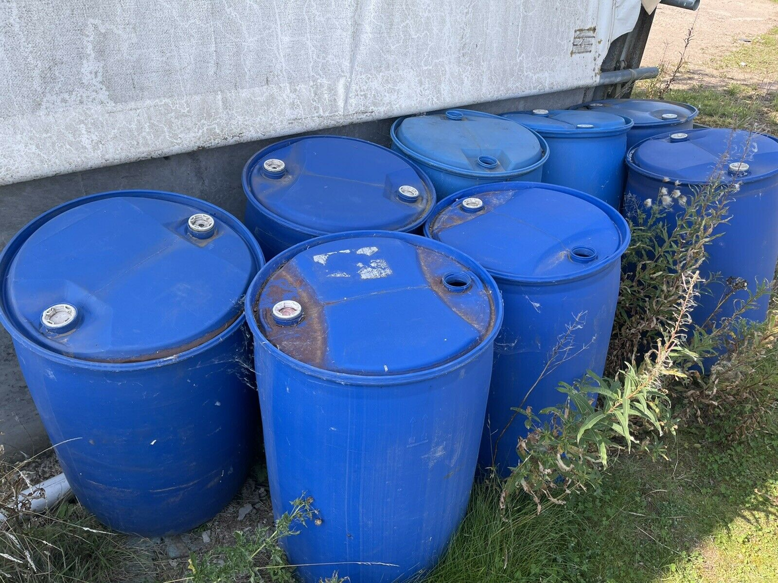 205 Litre Plastic Barrel Drum 8no Available Auction Is For 1no Only