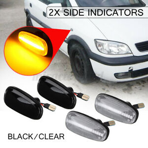 LED Side Marker Light Indicators Repeaters For Vauxhall Opel Zafira A Astra