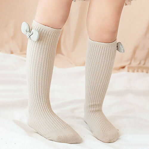 1-8 Years Old Baby Childen Girls Lovely Bow Cotton Casual Cute Middle Tube Socks