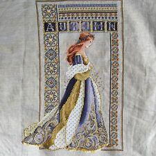 Lavender & Lace Celtic Autumn Completed Cross Stitch
