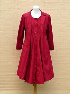 CORA-KEMPERMAN-rotes-Mantelkleid-Kleid-Mantel-Baumwolle-Lycra-Gr-XL