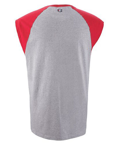 Champion Cotton T Shirt  Men/'s Raglan Cap Sleeveless Muscle T2230  ALL SIZES