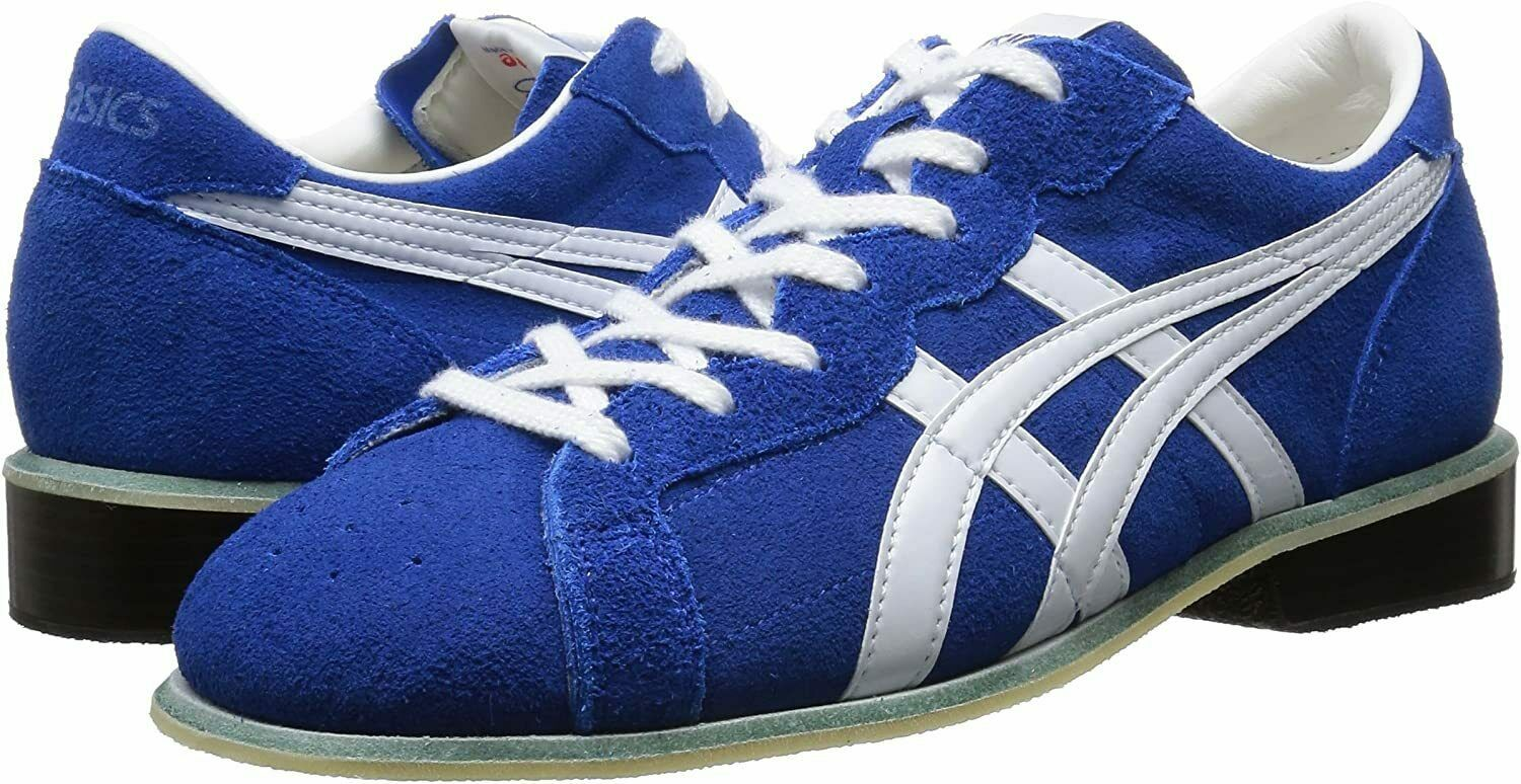 ASICS Weight Lifting Shoes 727 Blue White Leather Us523.5cm TOW727 Japan