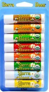 Sierra Bees, Organic Lip Balms, Variety Pack, 8 Pack, 0.15 Oz Each Serious Skincare Retexturizing 2pk Glycolic Face Serum Extreme Renewal