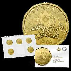 SEALED 2016 Canada 5-Pack $1 Rio Brazil Olympics Lucky Loonie * IN HAND *