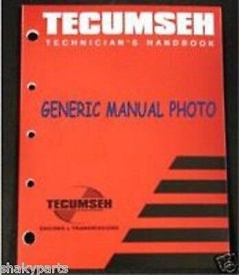 Tecumseh Technician/'s Handbook Manual Part 695244