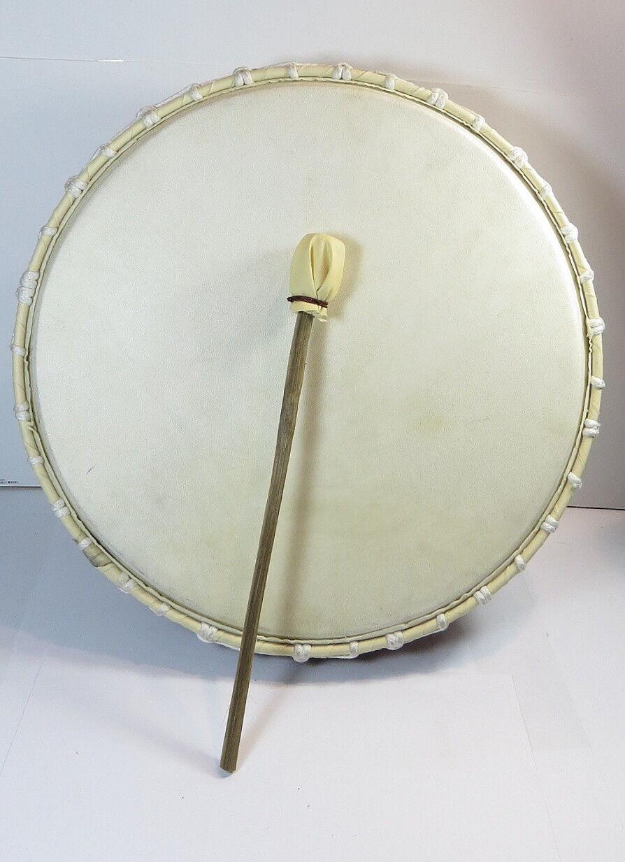 Trommel Ziegenleder Schamanentrommel mit Schlägel Rahmentrommel Ritual Neu 39cm