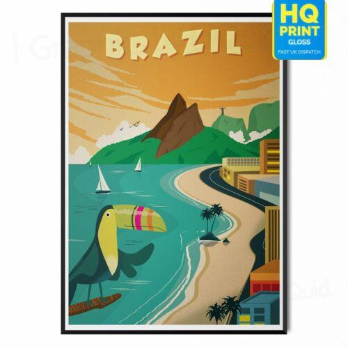 Vintage BRAZIL RIO CLASSIC Travel Posters Prints Art Tourism Holiday Home Decor