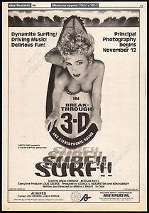 SURF-II-Original-1981-Trade-AD-promo-poster-LINDA-KERRIDGE-EDDIE-DEEZEN-1984