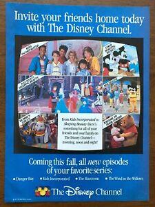 1987 The Disney Channel Authentic Vintage Print Ad/Poster 80s Pop Art Decor