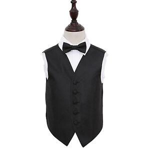 DQT Boys Greek Key Patterned Wedding Waistcoat and Cravat