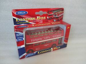 London-Sightseeing-Bus-Red-Open-Model-Car-4-11-16in-Welly