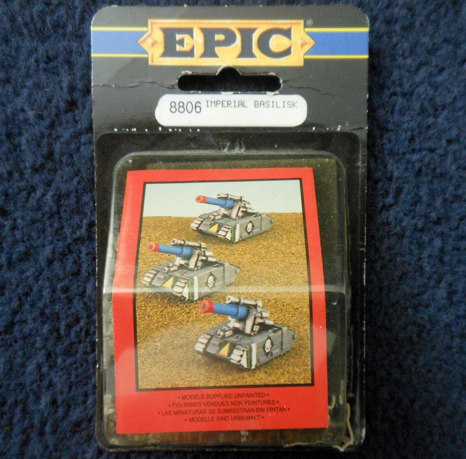 1991 Epic Imperial Guard Basilisk Self Propelled Gun Citadel 6mm 40K Army MIB GW