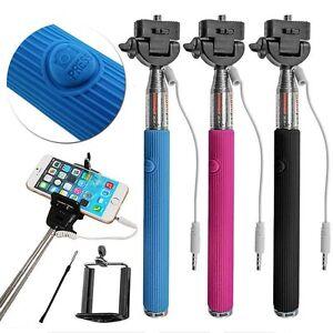 Telescopica-Selfie-Stick-monopode-Remoto-Con-Cable-Movil-Soporte-Para-Iphone-5c-6s-6g