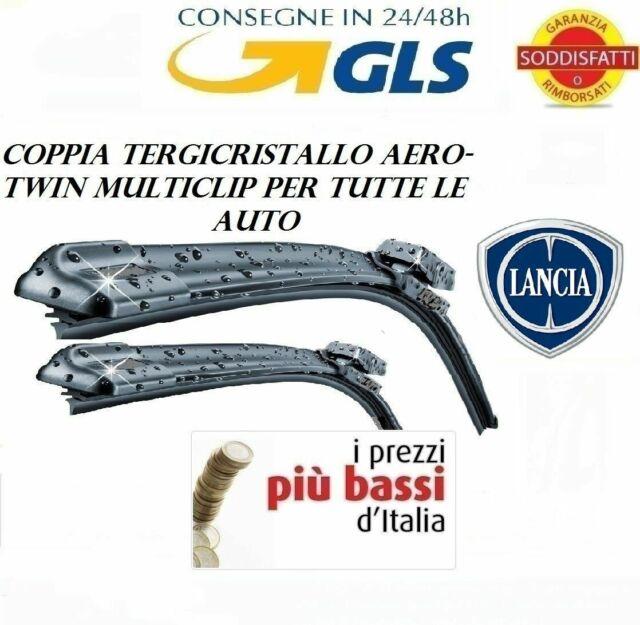 2 spazzole tergicristallo AEROTWIN ANTERIORI LANCIA YPSILON Y dal 06//2011 in poi