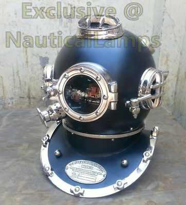 Vintage Divers Diving Helmet Full Size Scuba Antique US Navy Mark V Deep Antique