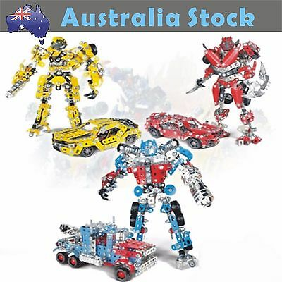 Transformers Optimus Prime Bumble Bee Dino Building Action Figures Robot Toy