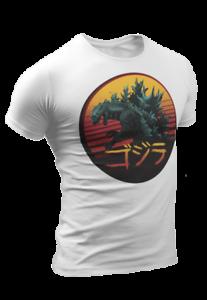 Godzilla Japanese Warrior Samurai Sun Karate Martial Arts Chinese Retro 3