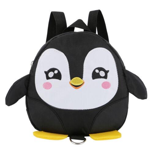 Children Girls Boys Cartoon Animal Penguin Backpack Toddler Zipper School Bags