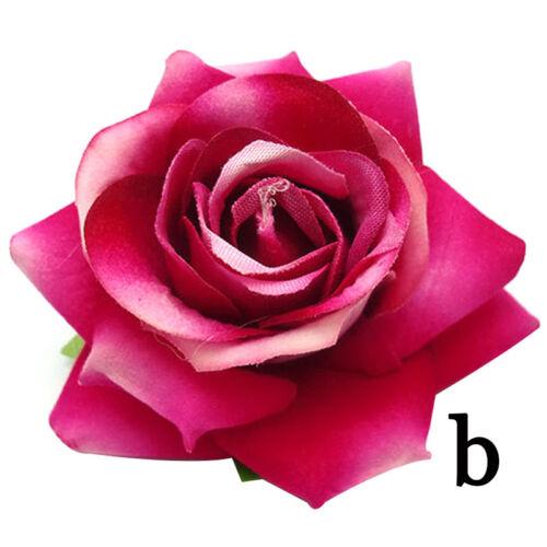 Haarspange Strand Haarschmuck Hawaii Hochzeit Rosen Blumen Haarclip Blüte G8Q0