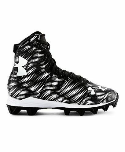 196aef5b91fb Under Armour Highlight RM Jr Boys Football Cleats Black white Size Youth  2.5 for sale online