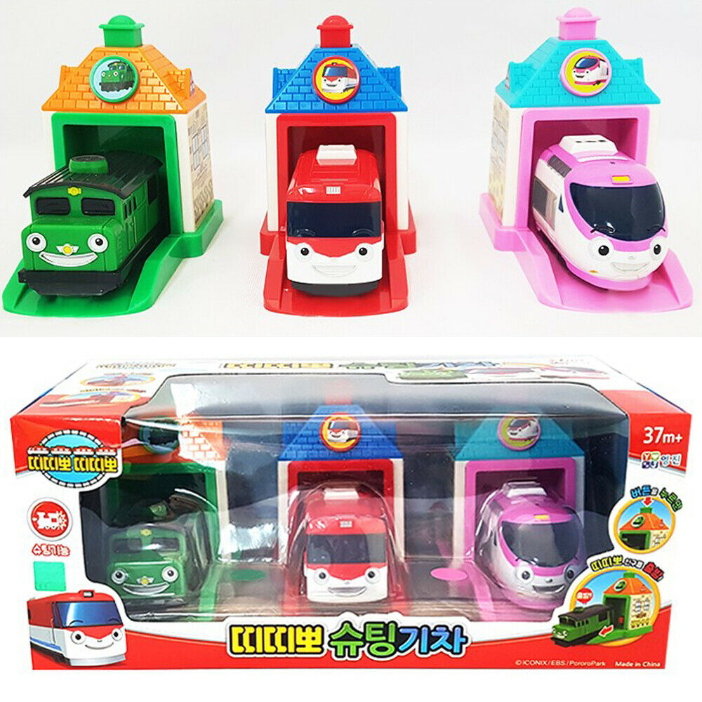 Titipo and Friends Shooting 3 3 3 Trains Toy Set Cars Character Kids Gift 275cd0