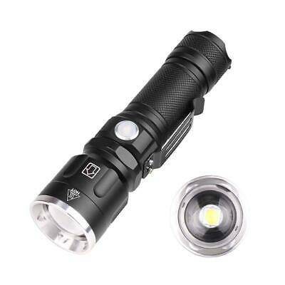 Tactical Flashlight Zoomable USB Rechargeable XHP50 18650 100000LM Rope LJ