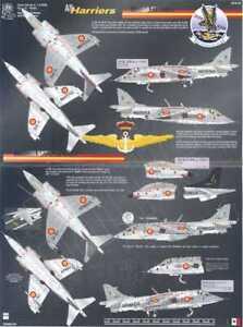 Aztec Decals 1//48 HAWKER HARRIER RAF /& NATO /& Spain