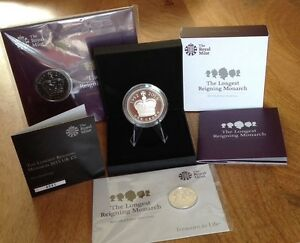 the longest reigning monarch silver proof 5 coin collection amp 20 silver coin - <span itemprop=availableAtOrFrom>Runcorn, Cheshire, United Kingdom</span> - the longest reigning monarch silver proof 5 coin collection amp 20 silver coin - Runcorn, Cheshire, United Kingdom