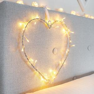 40er Led Herz Deko Beleuchtung Lichterkette Hochzeit Muttertag