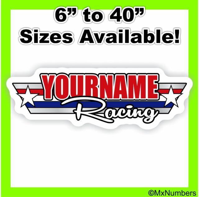 Custom Motocross Van Sticker #CustomName Sticker