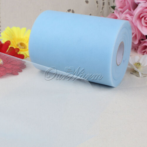 "6/"" x 100YD Tulle Roll Spool Tutu Skirt Fabric Gift Bow Craft Wedding Party Decor"