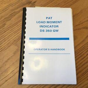 array - pat ds350gw load moment indicator lmi operator handbook manual  crane rh ebay com
