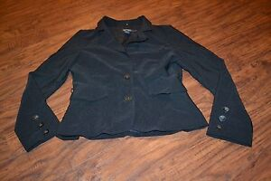 D6-Rampage-Black-Long-Sleeve-Button-Down-Jacket-Size-M