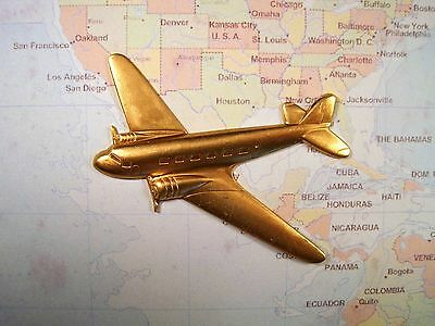 Large Raw Brass Airplane Stamping (1) - GB8601 Jewelry Finding