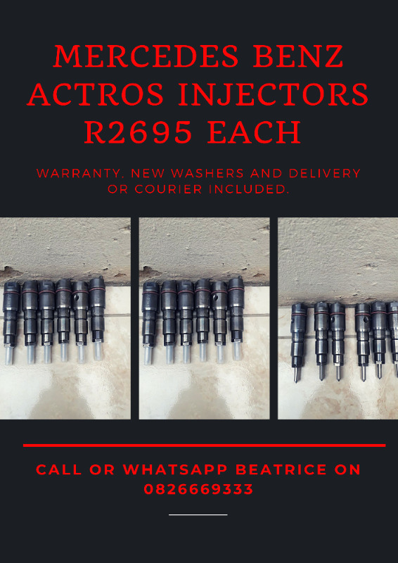 Mercedes Benz Actros diesel Injectors available on stock exchange