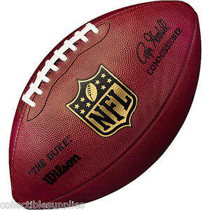 New Wilson Official Leather Nfl Full Size Football Ebay