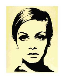 Twiggy Pop Culture Silhouette DIGITAL Counted Cross-Stitch Pattern Needlepoint