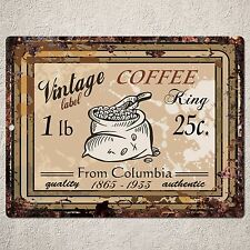 PP0069 Vintage Coffee Sign Rustic Parking Plate Home Restaurant Cafe Gift Decor