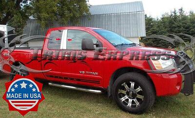 TYGER For 2016-2018 Nissan Titan Crew Cab Chrome Pillar Post Trim 4PC