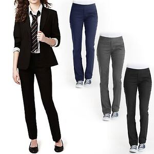 street price attractive designs durable service Details about KIDS GIRLS SLIM FIT TROUSERS LEG SCHOOL UNIFORM PANTS PULL UP  BOTTOMS 3-16 YEARS