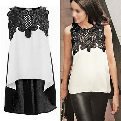 Fashion Women's Sleeveless Chiffon Casual Loose T-Shirt Tops Vest Blouse Ladies