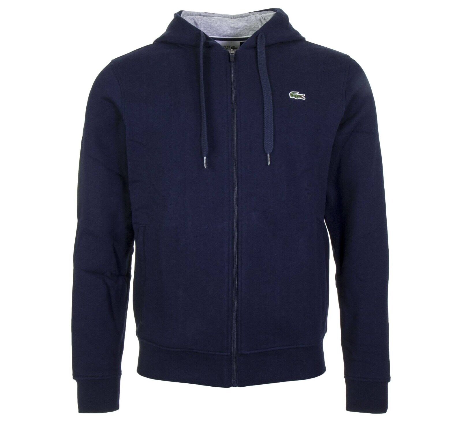 Lacoste señores sweatjacke zipjacke chaqueta Hoodie Navy azul Nuevo