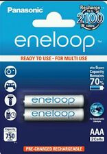 Panasonic Eneloop AAA 800 mAh Rechargeable Battery, 2-Piece (BK-4MCCE/2BN)