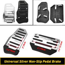 2 Pcs Silver Car Automatic Gas Accelerator Brake Pedals Cover Non Slip Pad Parts Fits 1999 Jeep Wrangler