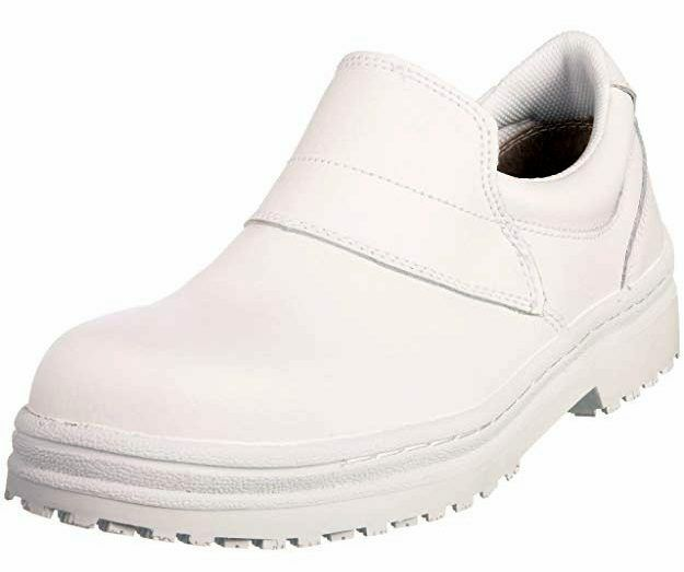 shoes for Crews Unisex White Safety Boot 5254, Slip On, Chefs work shoes