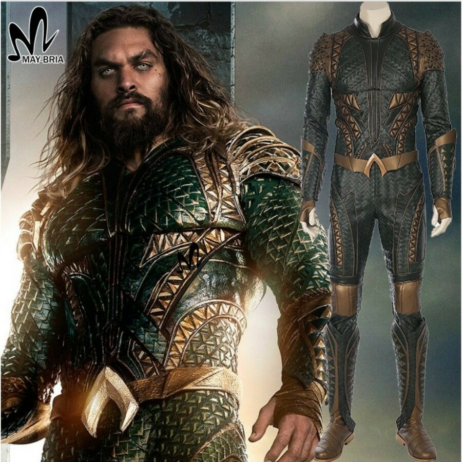 Justice League - Aquaman Costume Cosplay Costume Accessories Jumpsuit Shoes Glove