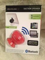 Bluetooth Rechargeable Wireless Suction Speaker - Soundlogic Xt Red Color